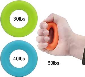 O-Kinee Fingertrainer Ring Griffkrafttrainer Finger Trainingsger/ät Hand Grip Trainer Strengthener Bahre f/ür Unterarm Griff Training Entlasten Handgelenk und Daumen Schmerz