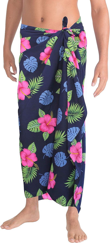 "LA LEELA Women/'s Beach Cover Up Pareo Canga Swimsuit Sarong 78/""x43/"" Pink/_K20"
