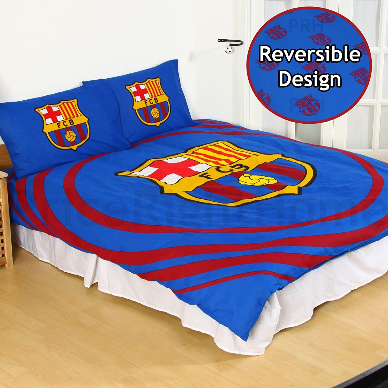 FC Barcelona Pulse Double Duvet Cover and Pillowcase Set Character World
