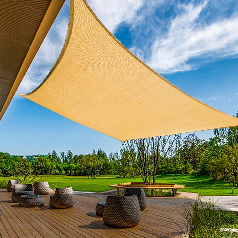 KANAGAWA Sun Shade Sail Triangle UV Block Canopy Dark Grey Cover for Patio Backyard Lawn Garden Outdoor Activities (12'x16', Sand)