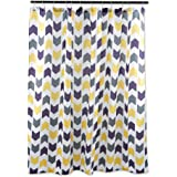 DII Oceanique Shower Curtain 100% Polyester, Machine Washable, for Everyday Use, Kids, Teens, Extra Bathroom, Main Bathroom 72x72, Multi Colored Tribal Chevron