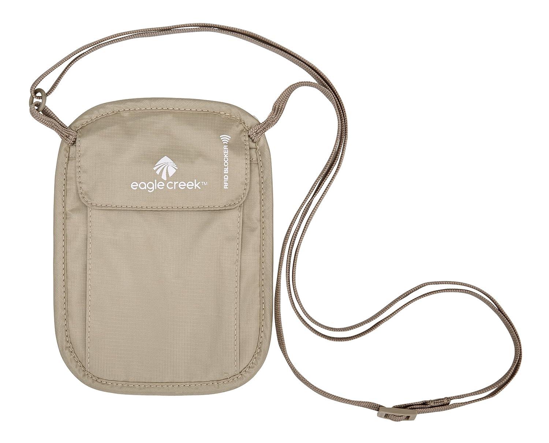 amazon com eagle creek rfid blocker neck wallet tan one size
