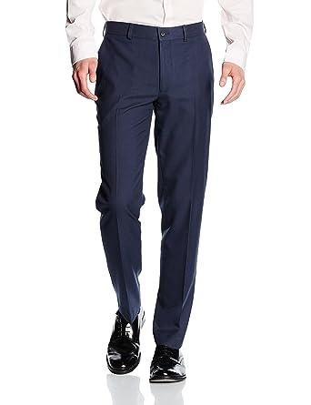 New Look Slim Fit-Pantalones de traje Hombre, Azul, W30 (Talla del ...