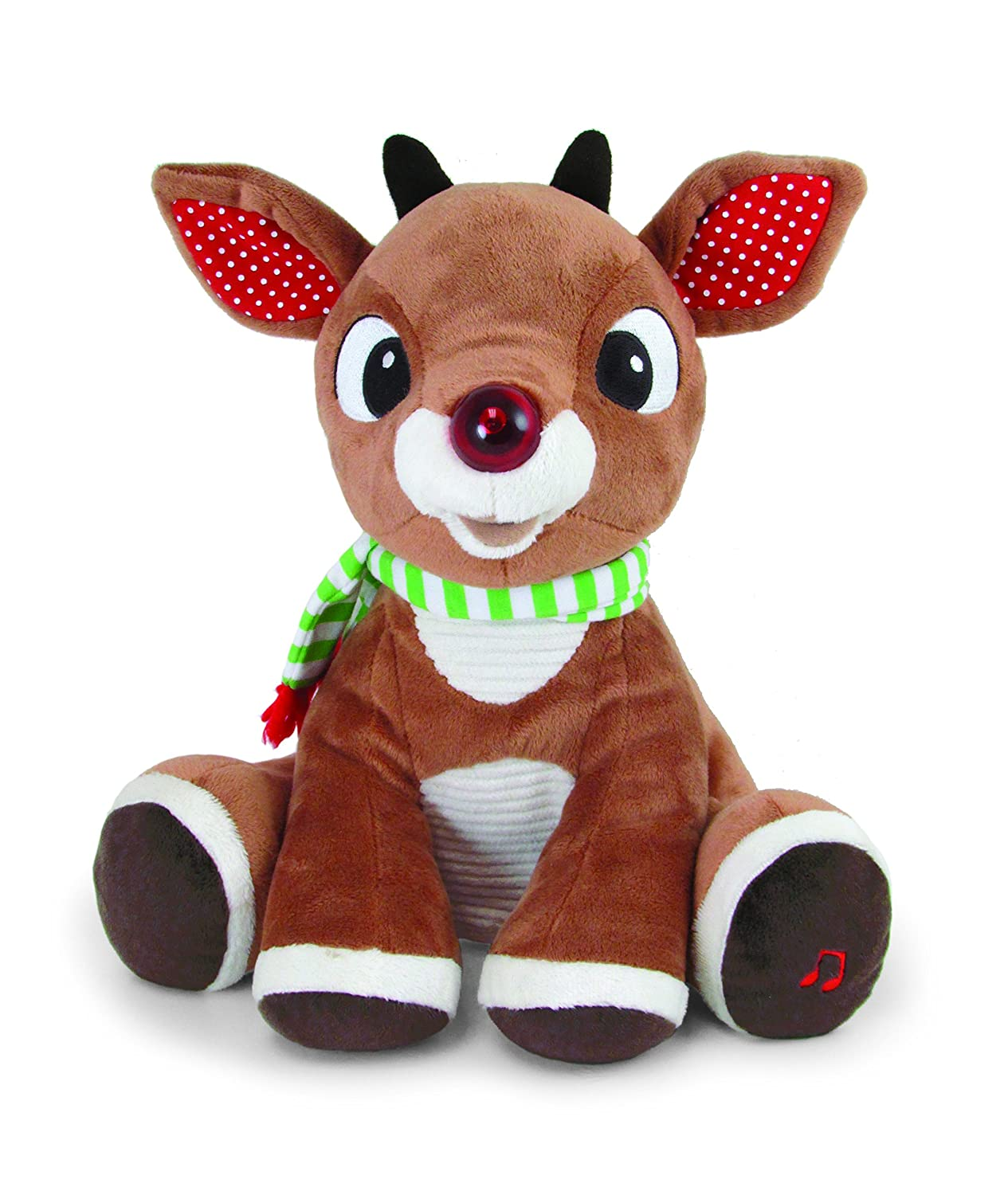 Rudolph Light-Up Plush with Music and Lights HearthSong 730591