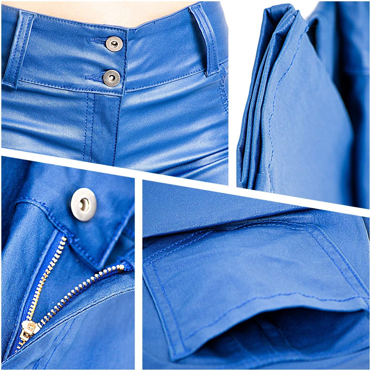 Pantalones Colombianos De Cuero Lowla 0719 Faux Leather Pants for Women