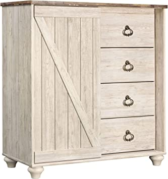 Ashley Furniture Signature Design – Cómoda Willowton – Casual – 4 ...