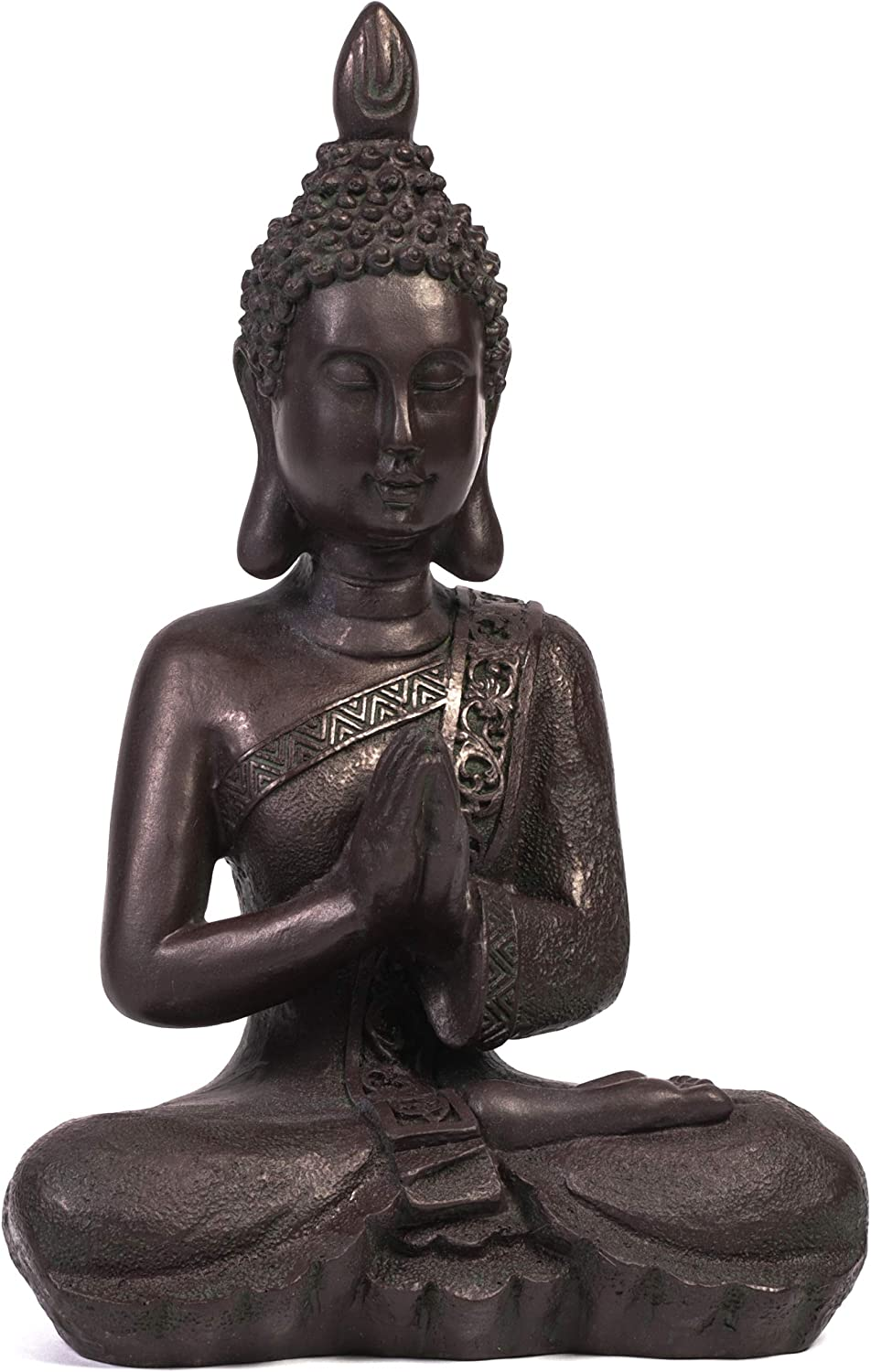 Juvale Meditating Buddha Statue for Home and Garden (13 Inches)