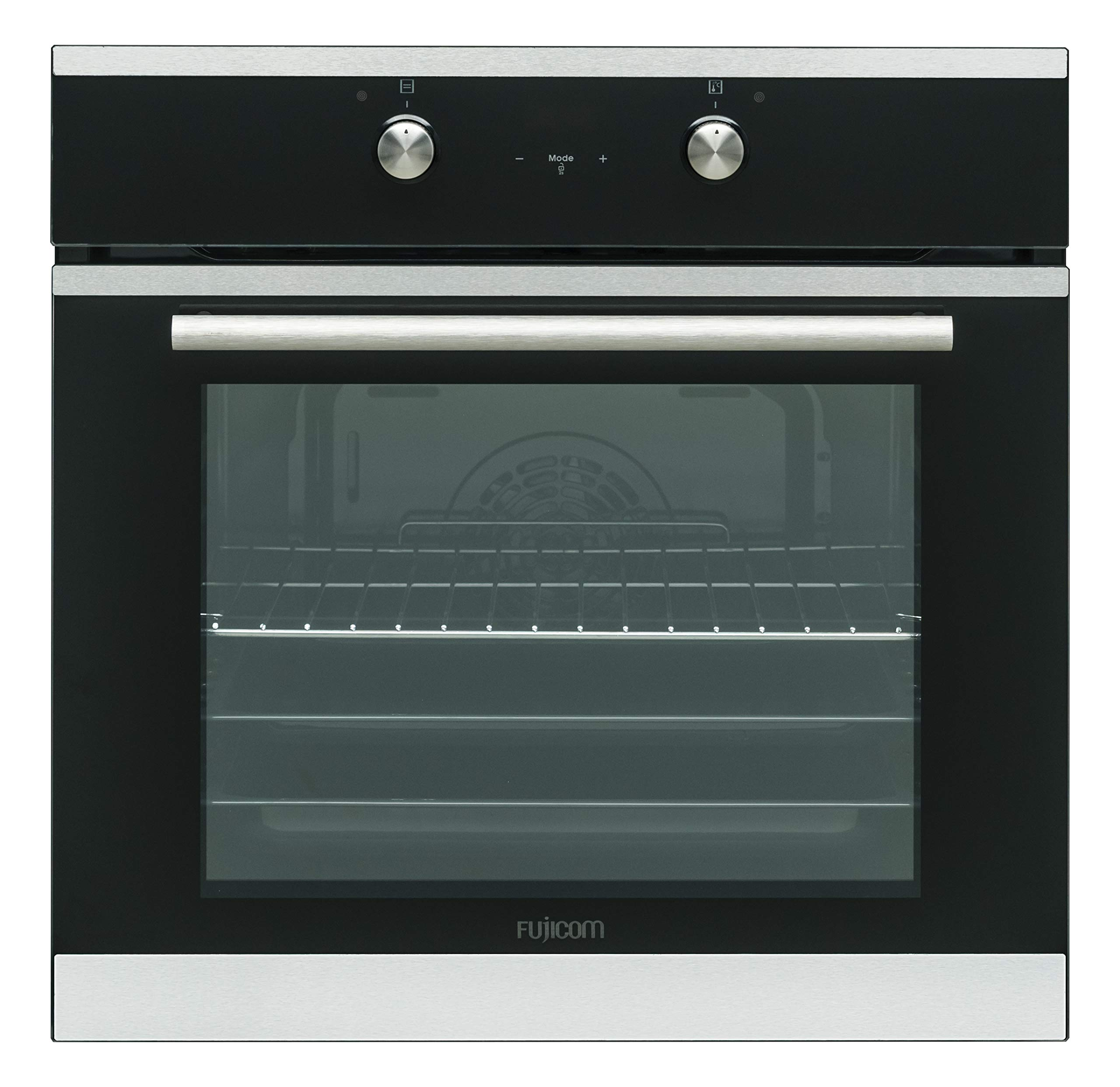 FUJICOM 65-L Built-in Oven - 9 Programs Including Active Turbo - Perfect for Cooking Baking & Grilling - Smooth Enamel Coating & Pop-Out Power Buttons for Easy Cleanup by FUJICOM