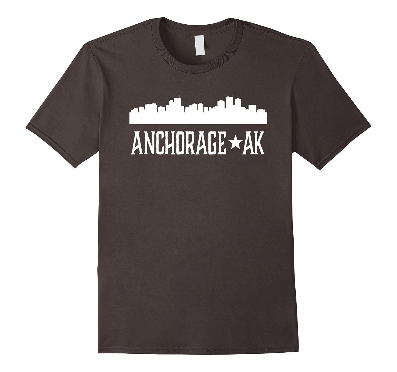 Amazon Com Anchorage Ak T Shirt Alaska Cities Skyline Silhouette