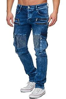 Tazzio Top Herren Hose Skinny Jeans Stretch Biker Style Clubwear ... 65a446ef00