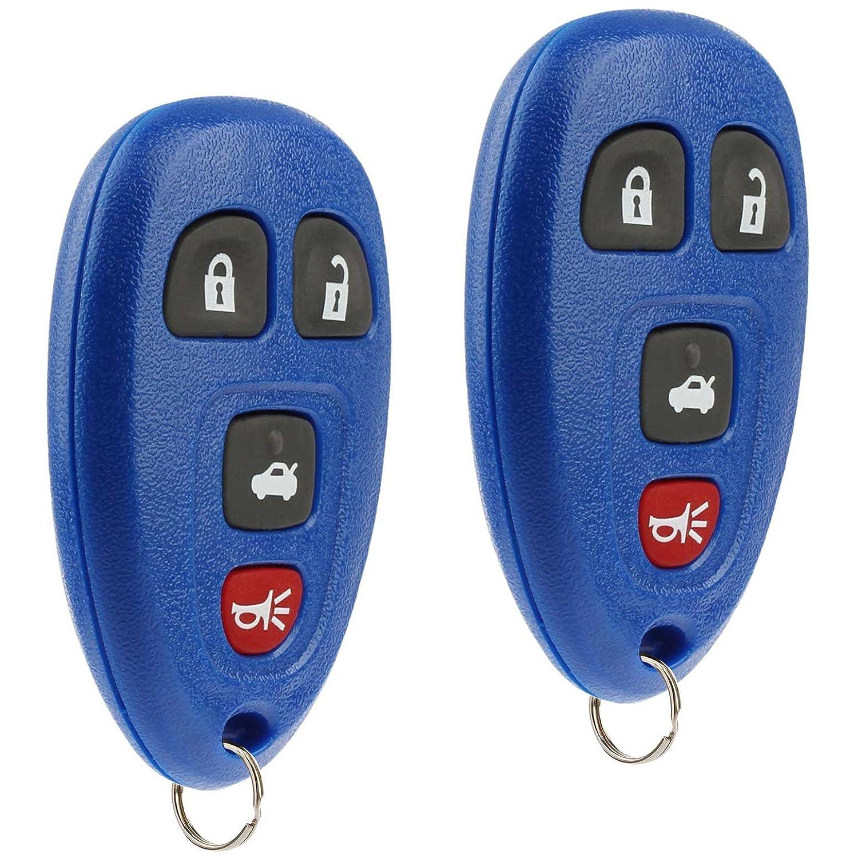 Key Fob Keyless Entry Remote fits Chevy Cobalt Malibu//Buick Allure Lacrosse//Pontiac G5 G6 Grand Prix Solstice//Saturn Aura Sky 2005 2006 2007 2008 2009 2010 2011 2012 15252034 Red Set of 2