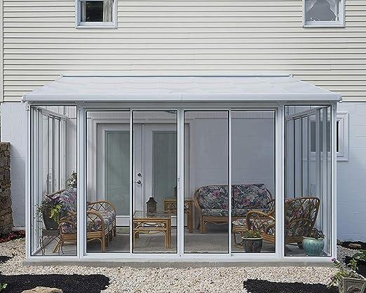 Palram Sanremo Veranda para jardín de Invierno, Blanco, 435 x 385 x 310: Amazon.es: Jardín