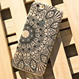 Sannysis Henna Black Floral Flower Plastic Case Cover Skin for iPhone 6S