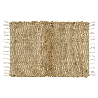 VHC Brands 15055 Burlap Natural Chindi/Rag Rug, 1'8  x 2'6