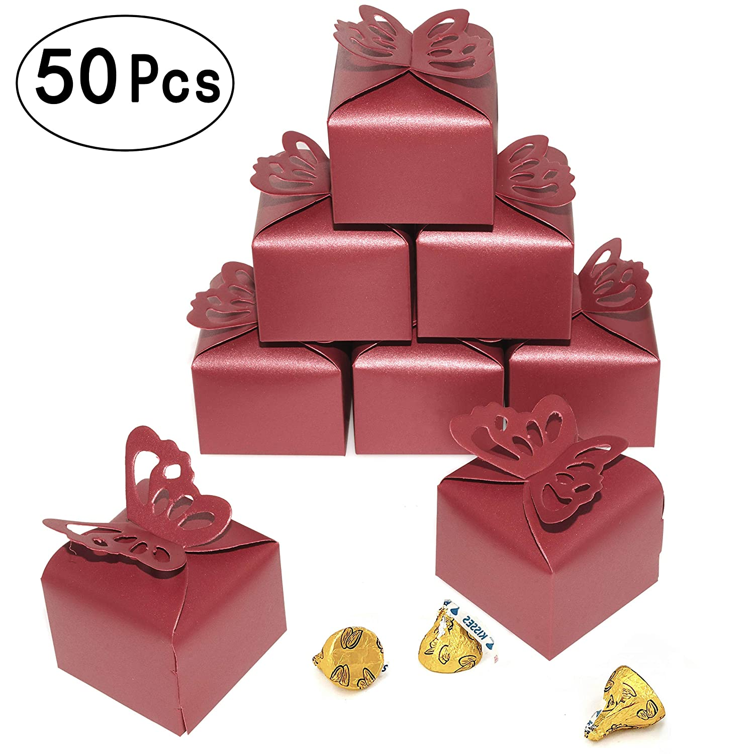 Wedding Party Candy Treat Favors Boxes Small Red Butterfly Gift Box Gift Boxes Bulk Bachelorette Bridal Shower Birthday Mother S Day Party Boxes