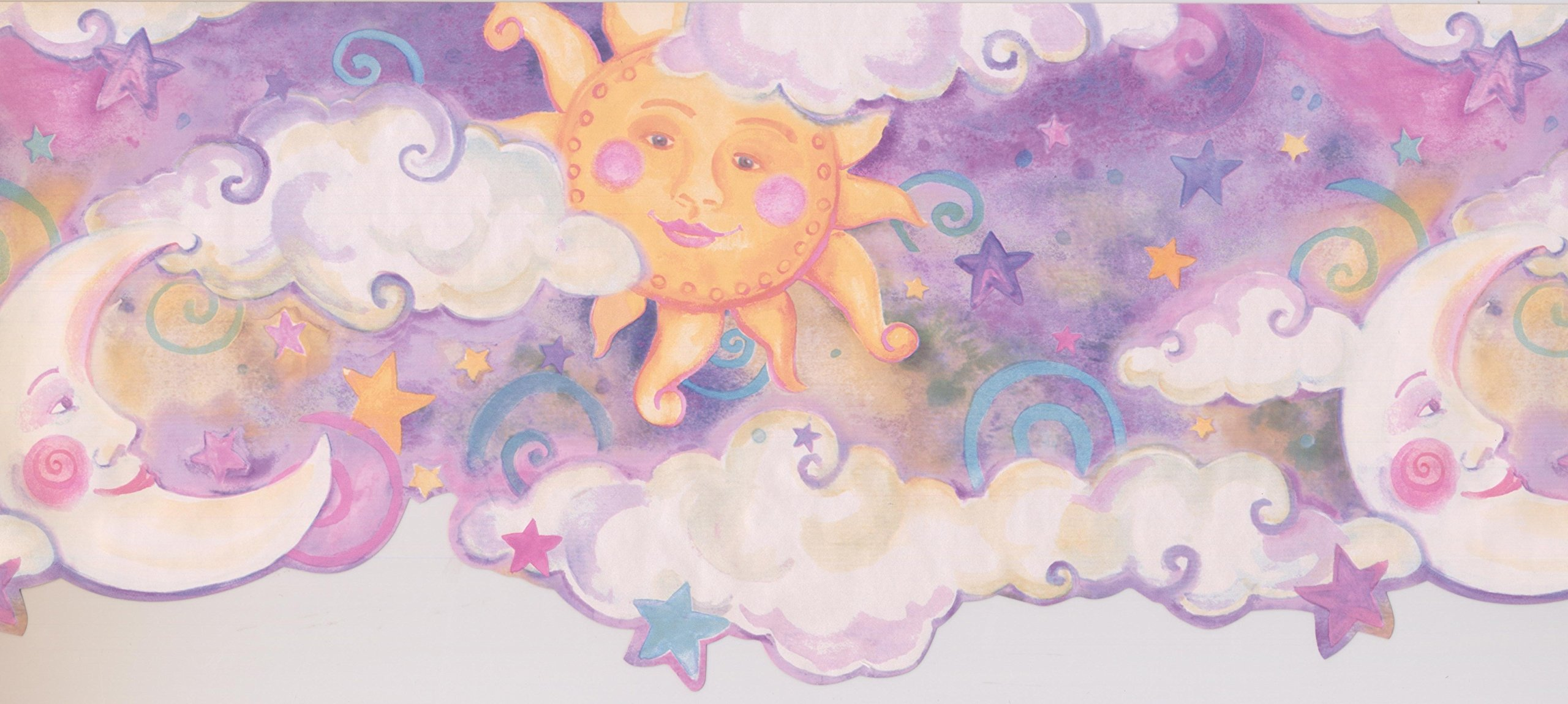 Wallpaper Border - Sun Moon Star Wallpaper Border 1193 KZ