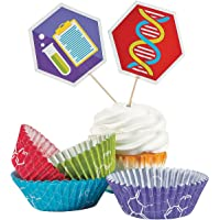 Fun Express Science Party Cupcake Liners with Picks - Makes 50 Treats