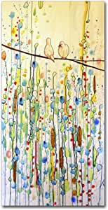 """Toi Et Moi by Sylvie Demers Wall Hanging, 12"""" x 24"""" Canvas Wall Art"""