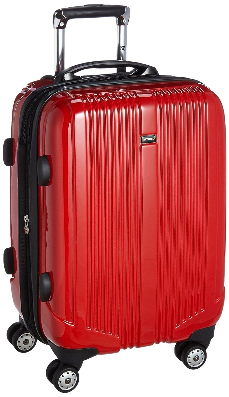 [ジェイワールド] スーツケース キャリーケース CONCORD 20 軽量 丈夫 頑丈 ポリカーボネートダブルキャスター 静音 50 cm 3.92kg B06VT7QL9Z レッド