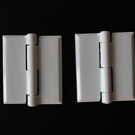 10pcs 45x38mm Bisagras de Pl/ástico Acr/ílico Transparente de Plexigl/ás Puerta Plegable para Piano