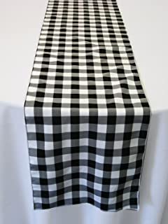 Wonderful ArtOFabric Black And White Checkered Polyester Table Runner 13 X 72 Inch. Part 24