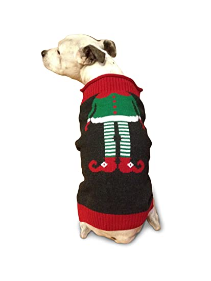 ugly christmas sweater elf dog sweater large - Large Dog Christmas Sweaters