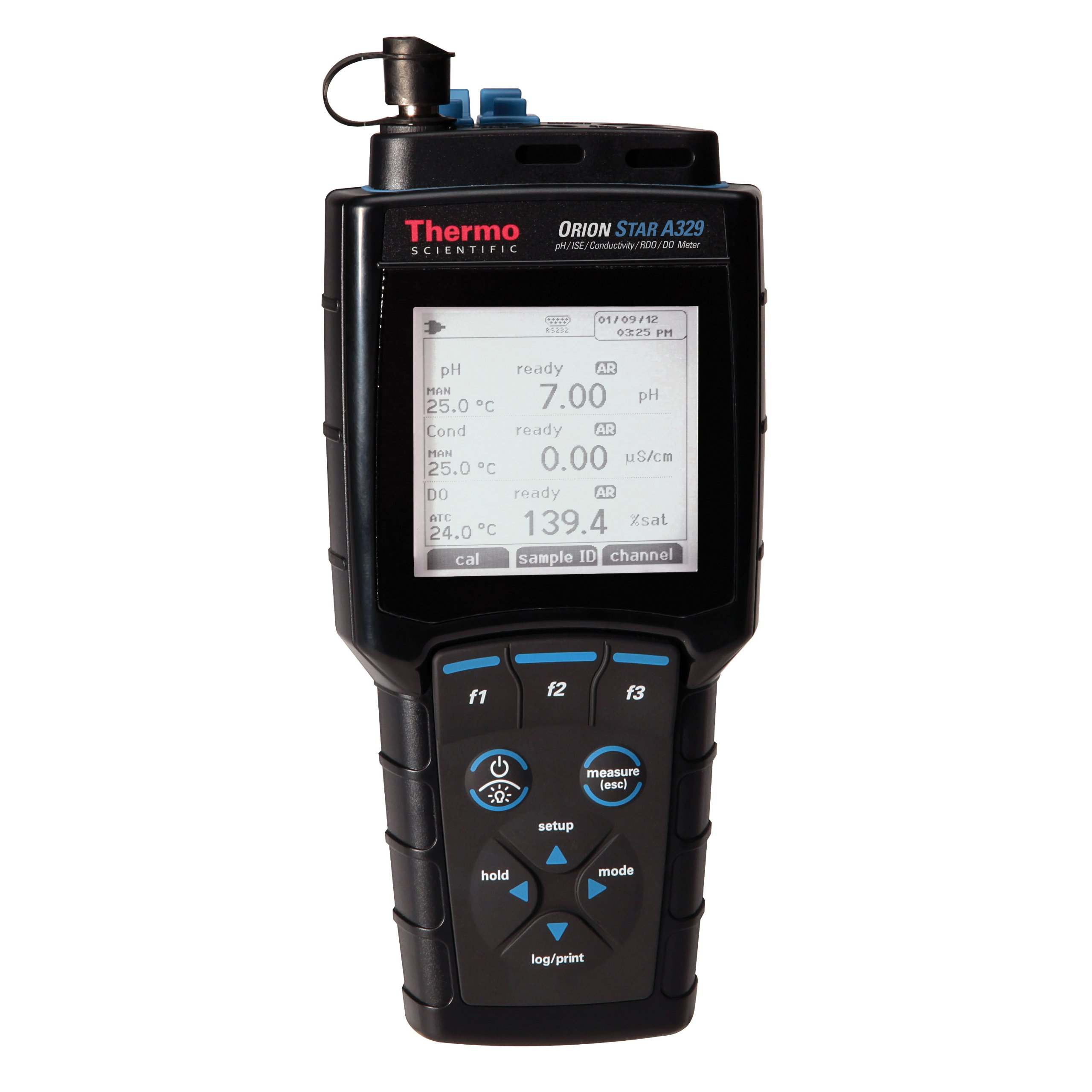 Thermo Scientific Orion Star A329 Portable pH/ISE/Conductivity/RDO/DO/Temperature Multiparameter Meter, -2.000 to 20.000 pH Range by Thermo Scientific Orion