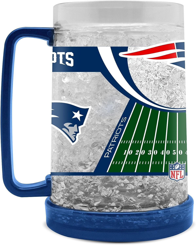 NFL New England Patriots 16oz Crystal Freezer Mug