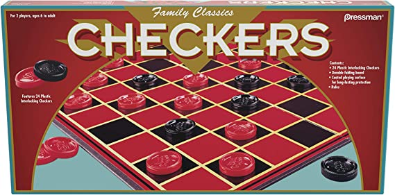 Free US Ship Classic Checkers Game 20x20 Plastic Board and Checkers