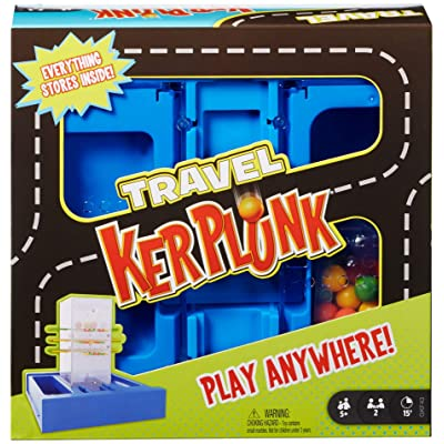 Mattel Games Travel Kerplunk, Portable Kids Game with Built-in Storage for 5 Year Olds and Up: Toys & Games