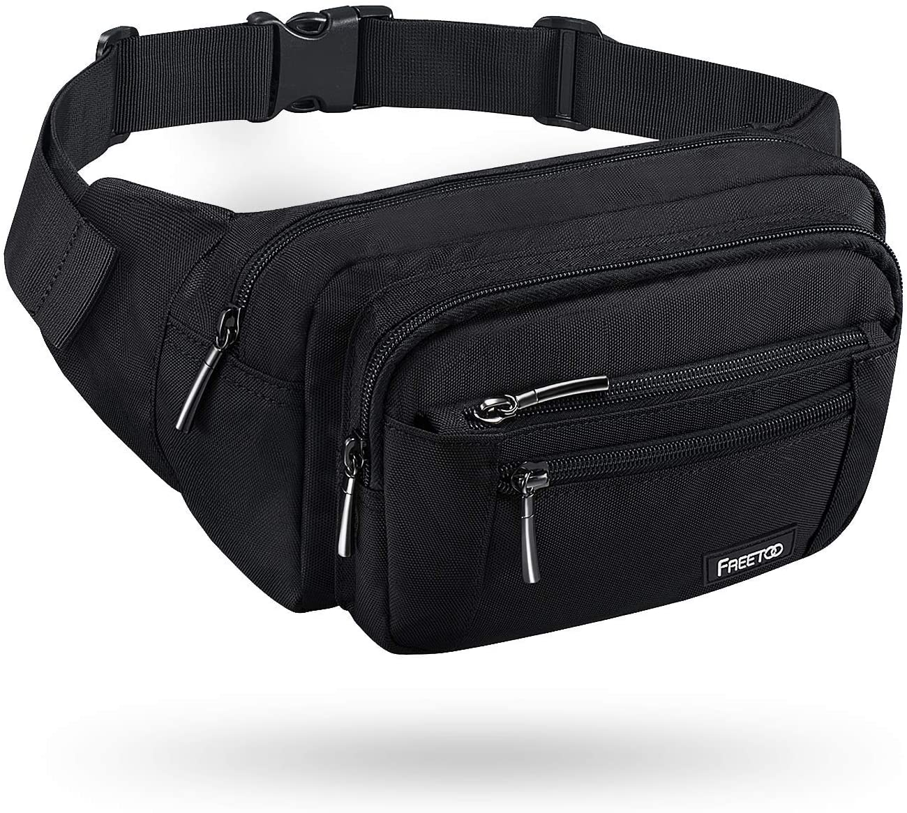 Black Taurus Sport Waist Packs Fanny Pack Adjustable For Hike