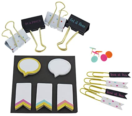 a23217e86f1a7 Image Unavailable. Image not available for. Color  Capelli New York  Assorted Stationary Accessories ...