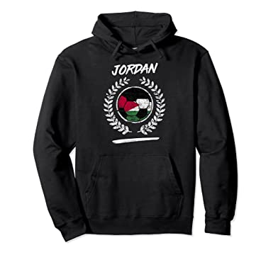 84fa82bffe29 Amazon.com  Jordan Flag Hoodie Jordanian Soccer Team Football  Clothing