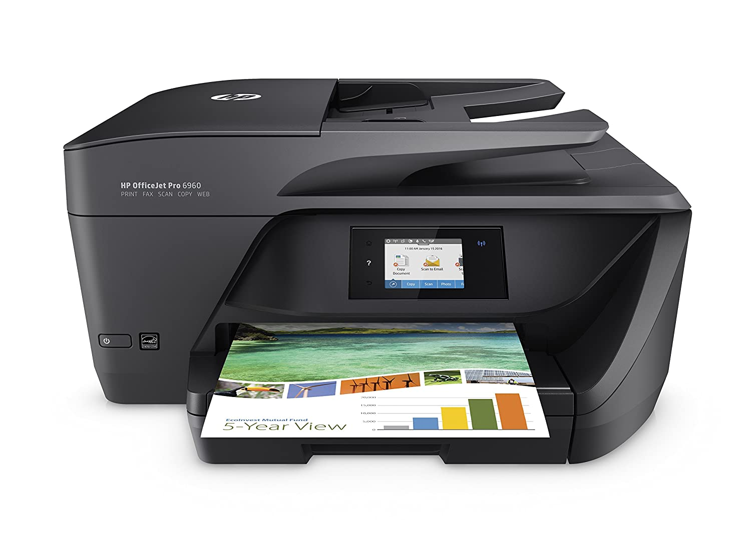 HP OfficeJet Pro Impresora multifunción tinta color WiFi fax copiar escanear impresión