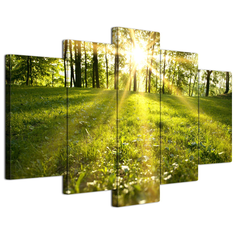 【リブラLibra】 5パネルセット アートパネル インテリアアート「林森」 キャンバス絵画 (木枠付きの完成品) (L, LP1707) B075STBXPB Large|LP1707 LP1707 Large