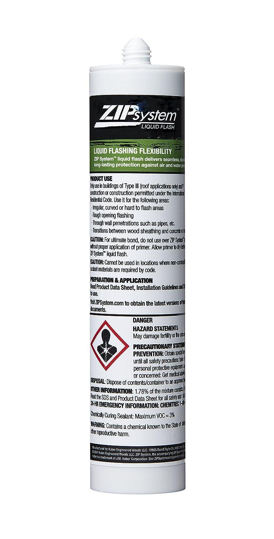 Huber Zip System Liquid-Flash | Waterproof and Airtight Liquid-Applied Flashing Membrane B01N5CXVKA | 10.3 ounce cartridge