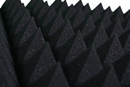 5 opinioni per Pannelli Fonoassorbenti Piramidali 100x100x6cm D30 nero