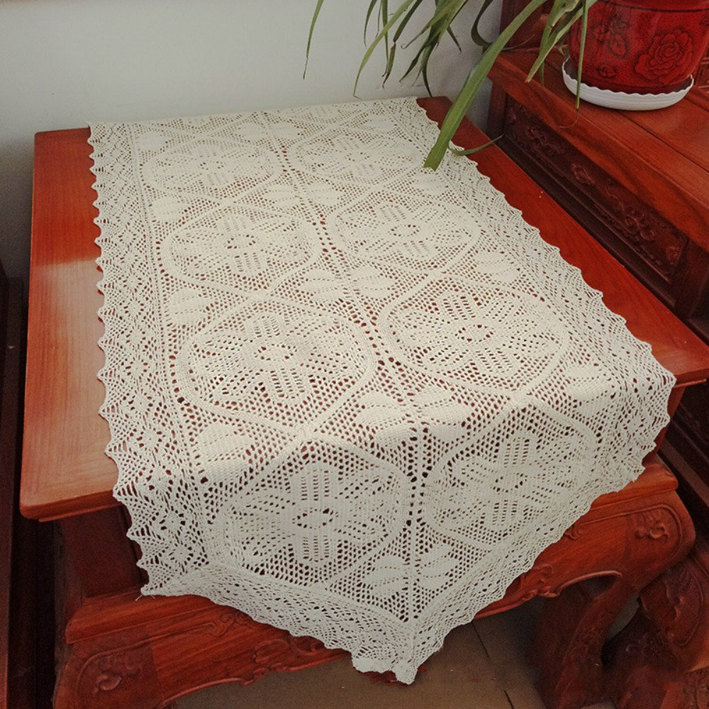 Zhh Embroidered Crochet Table Runners Lace Hollow Out Table Runner