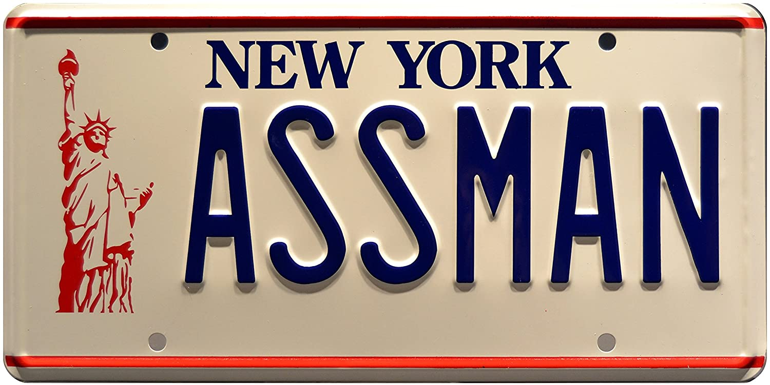 Celebrity Machines Seinfeld | Assman | Metal Stamped License Plate