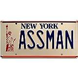 Celebrity Machines Seinfeld | Cosmo Kramer's Impala | Assman | Metal Stamped Vanity Prop License Plate