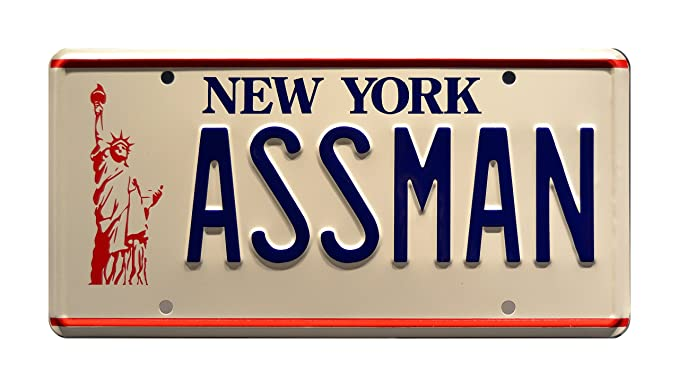 Seinfeld   ASSMAN   Metal Stamped License Plate
