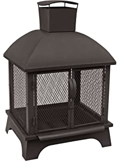 landmann usa redford outdoor fireplace black