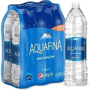 Aquafina Bottled Drinking Water, 6 x 1.5 Litre