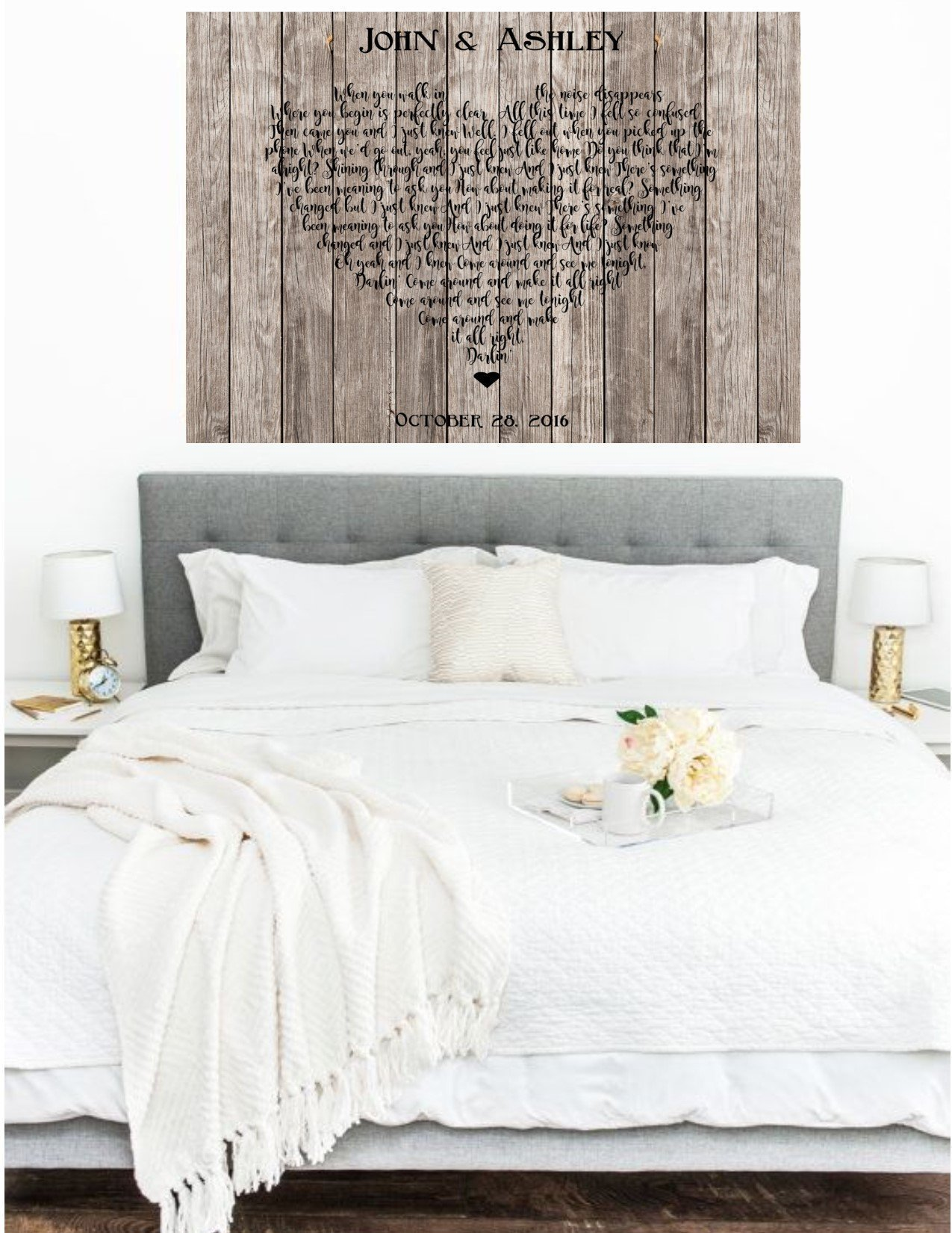 Song Lyrics in a Heart, Personalized Rustic Canvas, First Dance Song, Wedding Song On Canvas, First Dance Song Lyrics, Anniversary Gift