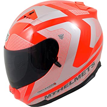 MT Blade Sv Reflexion casco de moto, naranja fluorescente