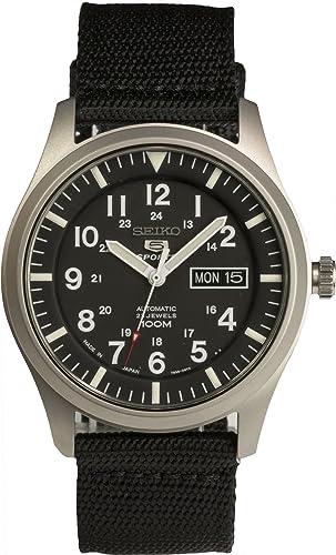 Seiko De los hombres Watch 5 SPORTS JAPAN Reloj SNZG15J1: Amazon.es: Relojes