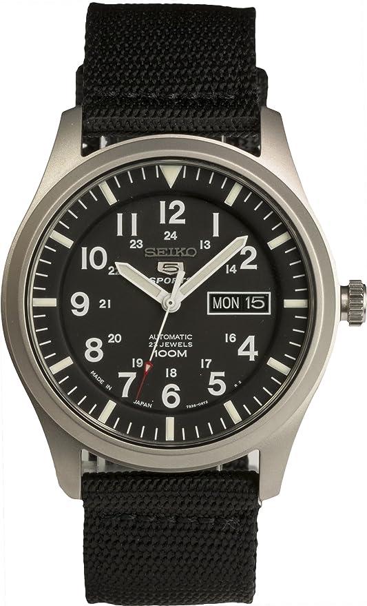 Amazon.com: SEIKO 5 SPORTS SNZG15J1 Reloj automático hecho ...
