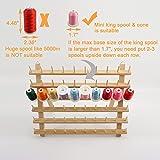 New brothread 60 Spools Wooden Thread Rack/Thread