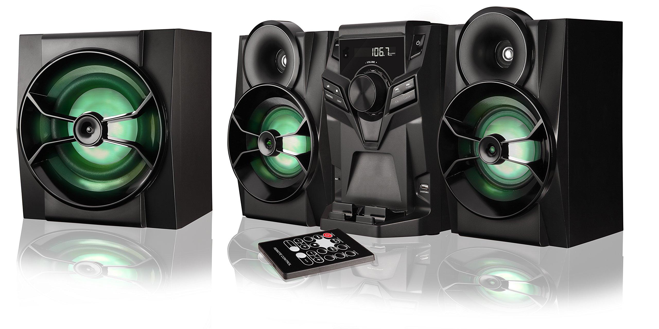 Blackweb BWA16AA003 1000W HIFI Bluetooth Stereo System with CD Player & FM Radio