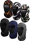 6 Pieces Balaclava Face Mask Motorcycle Mask Windproof Camouflage Fishing Cap Face Cover for Sun Dust Protection…